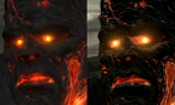 God Of War III GOWIII comparaison démo version finale logo