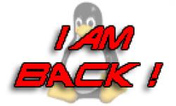 linux logo retour