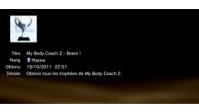 My Body Coach 2 - trophées -PLATINE 1