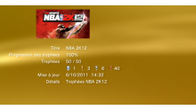 NBA 2K12 trophées LISTE 1
