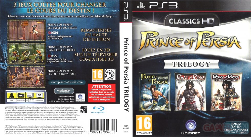 Image Prince Of Persia Trilogy 3d Jaquette Full Gamergen Com