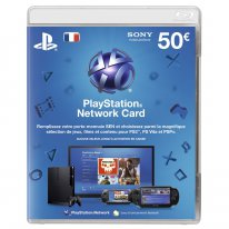psn card carte 50 euros 13.02.2013.
