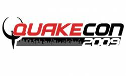 quakecon logo 2009 on white head