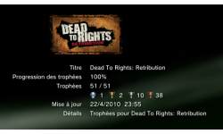 Dead to Rights Retribution trophee  1