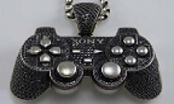 vignette head manette playstation 2 ps2 blingbling bling bling diamant or blanc insolite 11062011